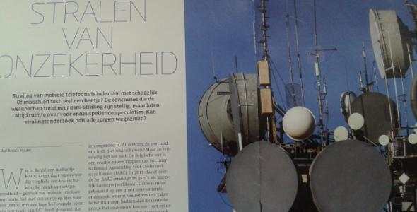 Artikel Anouck Vrouwe over de risico's van elektromagnetische straling